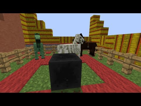 MineCraft 1.6 Snapshot 13w18b Coal Block. Hay Bale & Lead Recipe!