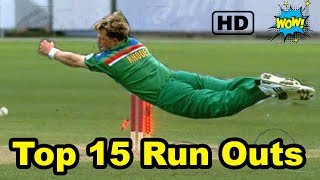 Top 15 Best Amazing Run Outs in Cricket History HD
