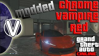 GTA 5 Online | Vampire Red Paint Job 1.46 *CHROME* (GTA 5 Online Glitches)