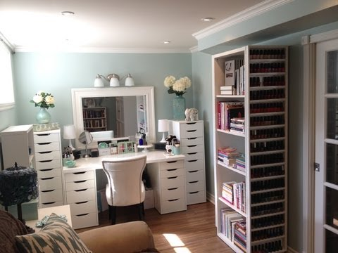 Makeup Room and Makeup Collection, Storage and Organization - July 2013