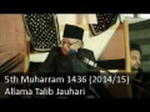 5th Muharram Majlis | Allama Talib Johri | 1436 (2014 15) - Zuljana video