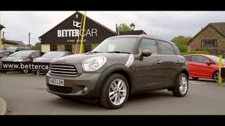 Royal-grey Mini Countryman 63 plate SUV at BetterCar LTD