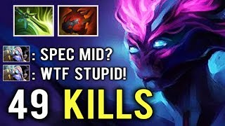 WORLD RECORD NEW META Mid Spectre 49 Kills vs Pro Player 1000 GPM 1v5 Craziest Gameplay Ever Dota 2