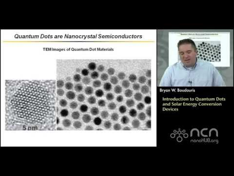 Introduction to Quantum Dots and Solar Energy Conversion Devices