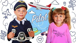 Arina go to airplane museum  Brother wants to be an airplane pilot