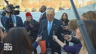 WATCH: Senate Democratic Leader Chuck Schumer statement after meeting with President Trump