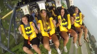 Batman The Ride Backwards Rider Cam - Six Flags