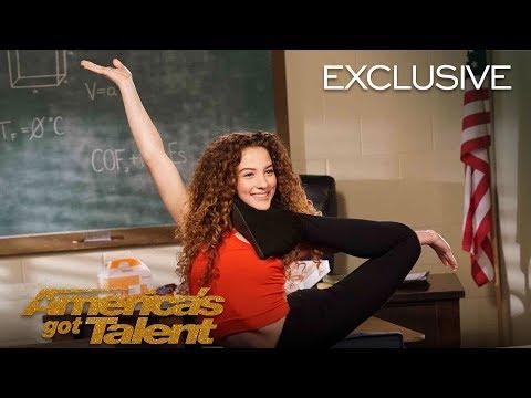 AGT's Talent University: Sofie Dossi Teaches Flexibility - America's Got Talent 2018