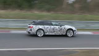 New Audi RS6 Avant spied at the Nurburgring