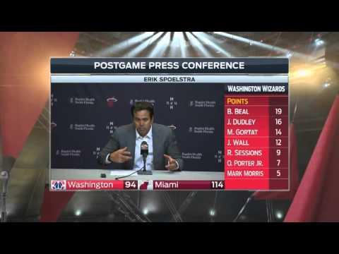 Erik Spoelstra -- Heat vs. Wizards postgame 2/20/16