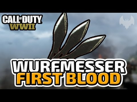 Wurfmesser First Blood - ♠ Call of Duty: WWII Trouble Town Battle ♠ - Deutsch German - Dhalucard