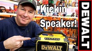 DEWALT JOBSITE BLUETOOTH SPEAKER REVIEW- THIS THING KICKS!! MODEL DCR010