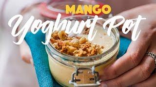 Homemade Granola Recipe with Mango Lassi - Easy, quick breakfast! #spon
