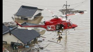Mưa lũ 51 người chết 76 người mất tích ở Nhật Bản do mưa lớn kéo dài  7 ngày - Cuộc sống ở Nhật Bản