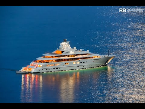 Superyacht Dilbar, owned by Alisher Usmanov.wmv