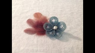 French Beaded Flowers - Lesson 4 - Continuous Wraparound and Crossover, Making a Hair Clip