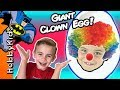 World's Biggest CLOWN Surprise Egg! PRANKS + Toy Hunt. Balloo...