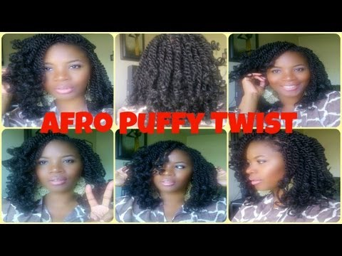 How To  Afro Puffy/Fluffy Twist