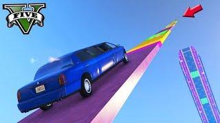 GTA V Online: SUBIDA 99.999% DIFÍCIL NA VERTICAL com LIMOUSINE!!! ÉPICO