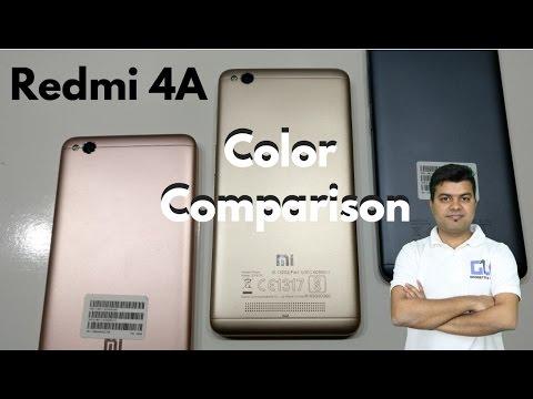 Redmi 4A Color Comparison - Rose Gold, Gold, Dark Grey