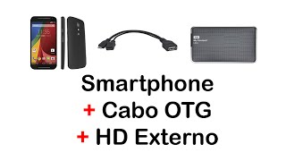 Connecting Smartphone to External HDD with OTG Cable