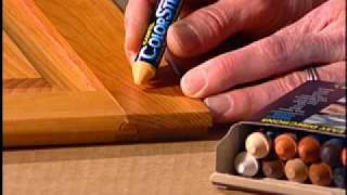 How to repair a wood scratch with ColorStik