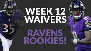 Gus Edwards And Lamar Jackson Head The Week 12 Waiver Wire As The Ravens Rookies' Future Begins Now