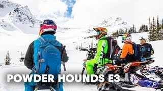 Snowbiking Unexplored Terrain in the Backcountry | Powder Hounds E3