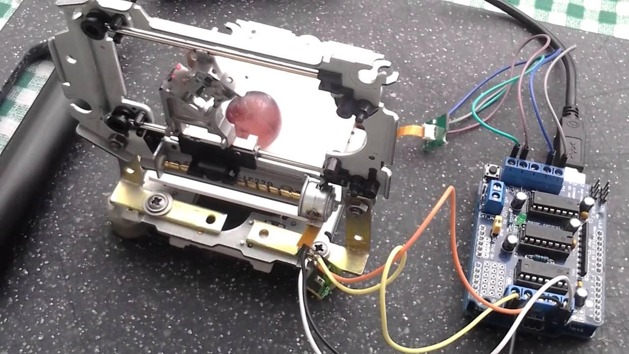 Arduino Dvd Stepper Motor Youtube