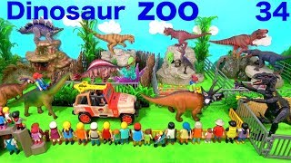 Jurassic World Dinosaur Zoo Toys For Kids - Indoraptor T Rex Dinos -  Learn Colors with Animals