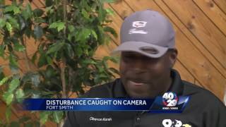 Disturbance caught on camera in Fort Smith