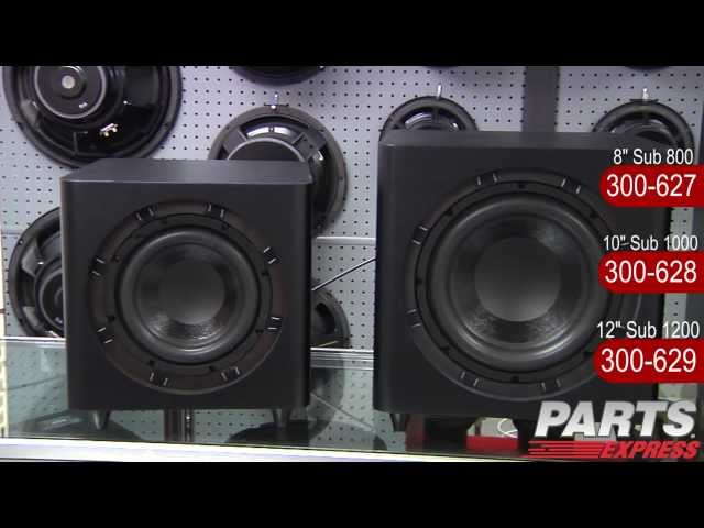 See the new Dayton Audio Subwoofers in Action