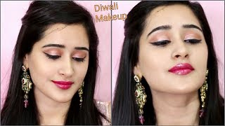 How to do DIWALI MAKEUP (Hindi)   EASY & Step By Step Makeup for Diwali