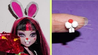 How to make a bunny nose or snout for doll - miniature crafts DIY