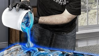 How to Cover Old Countertops with Blue Epoxy | Stone Coat Countertops Epoxy