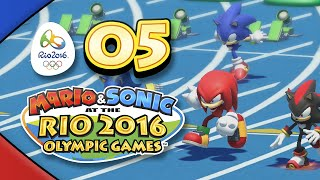 Mario and Sonic at the Rio 2016 Olympic Games for Wii U: Part 05 - 100m Dash (4-Player)