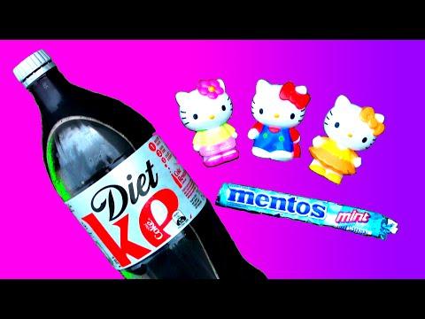 Hello Kitty Vs Diet Coke And Mentos Bubble Bath Fun School Science Experiment! Cartoon Toy Fluffyjet video