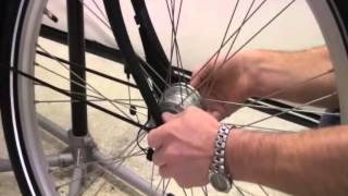 Front Wheel Removal With Shimano Hub Dynamo & Inter-M Roller Brake Fitted