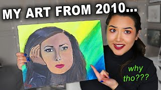 I Repainted My FIRST Painting 10 YEARS Later (2010 vs 2019 Self Portrait)