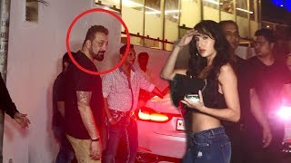 Sanjay Dutt's Full Night Party With Bollywood Celebs Salman Khan's Brothers,Sunil Shetty