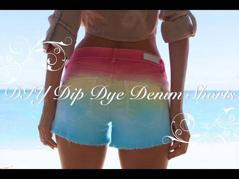 DIY Dip Dye Denim Shorts