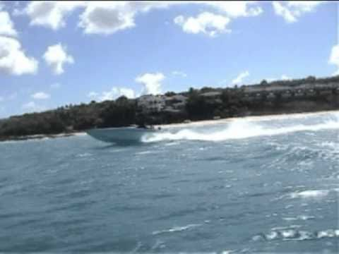 Offshore Speed boat in the Caribbean