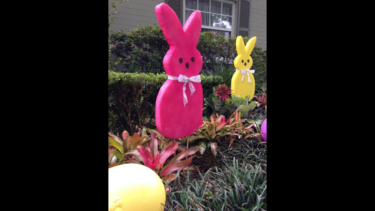 Large EASTER Bunny Decoration How To FAST amp SUPER EASY