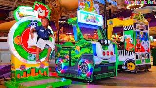 Mainan Anak Seru! Senang Naik Odong Odong Mobil Mobilan Anak Bermain dan bermain dingdong di Mall