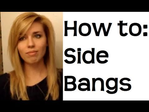 How to Style Your Bangs How to Style Side Swept Bangs