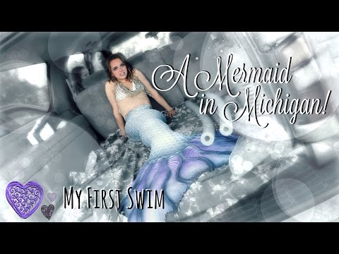 Real Mermaid Found in Michigan! Phantom's First Swim in her MerNation Tail | The Magic Crafter