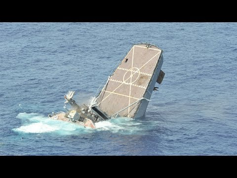 Sinking a US Navy Warship - Hits by Missiles & Torpedoes [ Exercise RIMPAC | Compilation ]