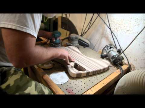 Sanding & Finishing the Custom Firebird Guitar Luthier build process