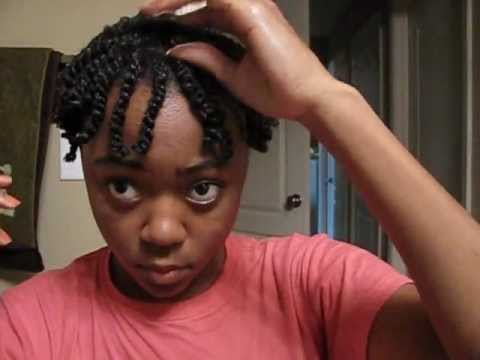 Two Strand Twist Tutorial on Short Natural hair