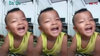 Bé 2 tuổi hát cực dễ thương I Ba Ba tiếng con gọi I Bé Hồng Ân I